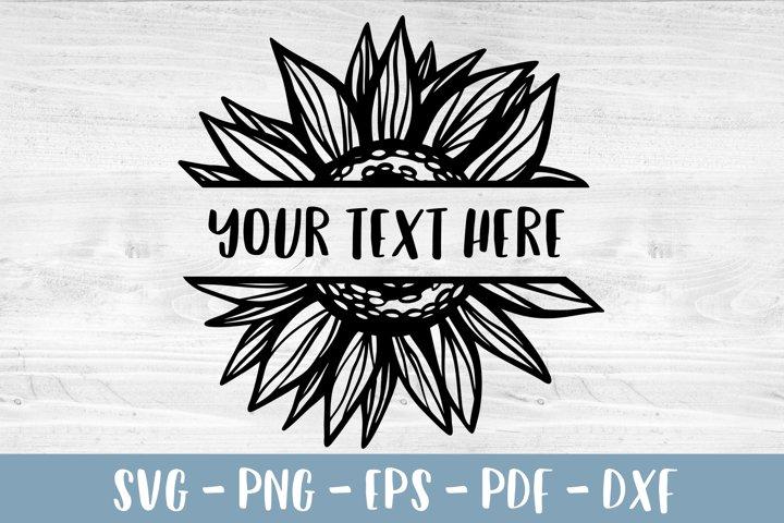 Sunflower frame SVG Sunflower border PNG Sunflower clipart