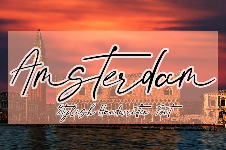 Amsterdam - Handwritten Font