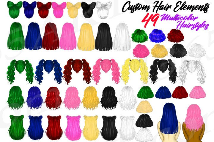 Halloween Multicolor Hairstyles Best Friends Clipart