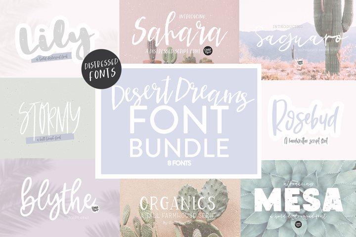 DESERT DREAMS Hand Lettered Font Bundle