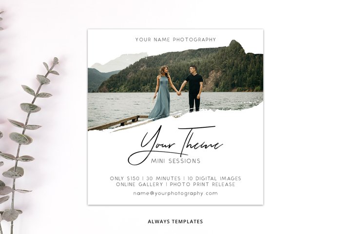 Photography Mini Session Template PM017
