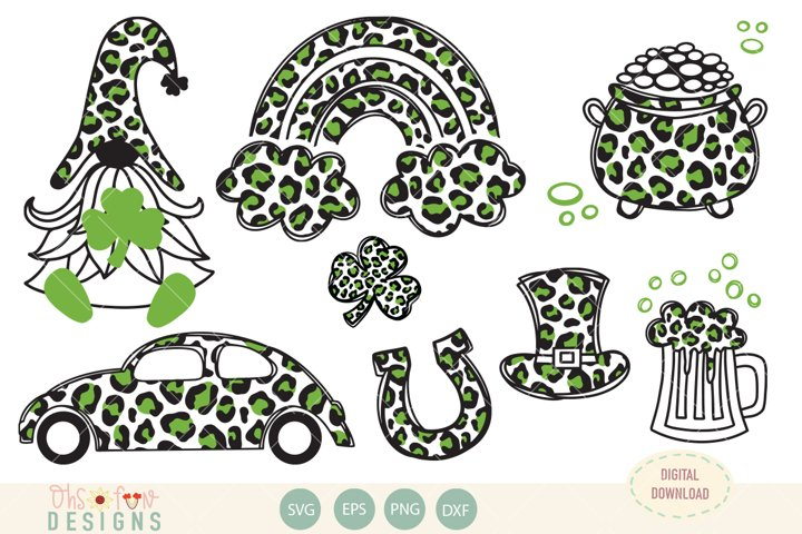 St Patricks animal print, SVG, cheetah print