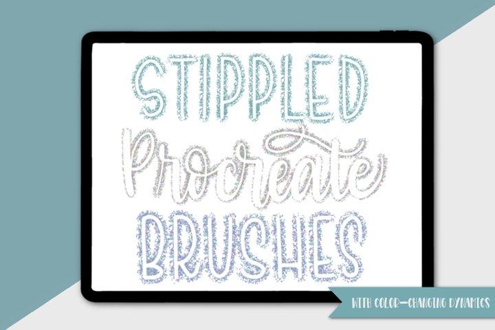 Stippling Procreate Brushes for Lettering