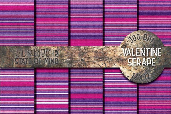 Valentine Serape Fabric Digital Papers