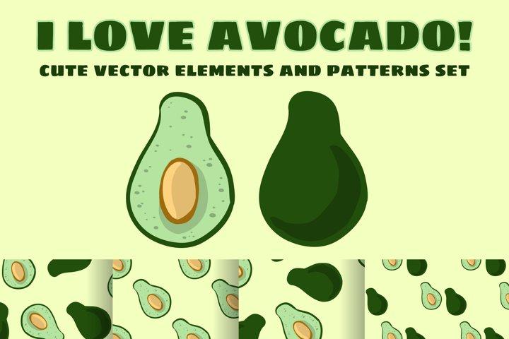 I Love Avocado Set