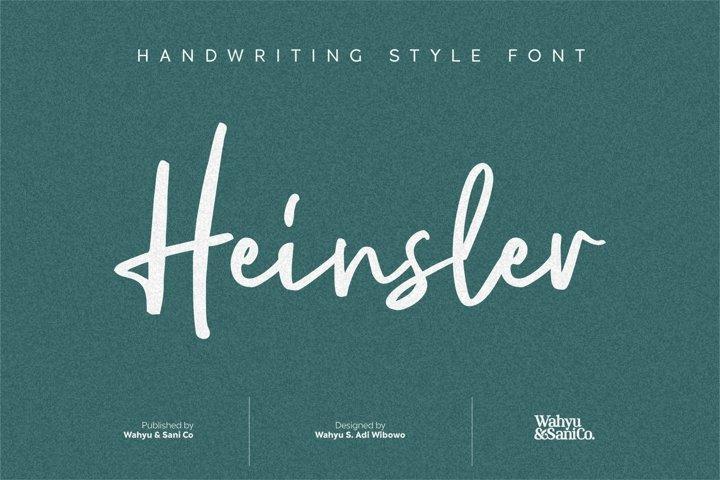 Heinsler | Handwriting Style Font