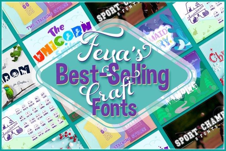 Feyas Best-Selling Craft Fonts Bundle