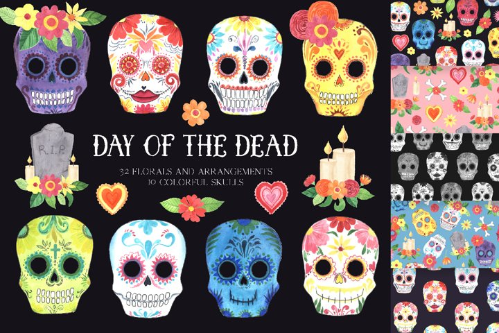 Day of the Dead - Mexican clipart