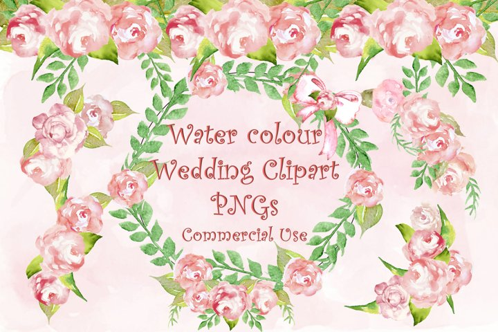 Water colour wedding Clipart PNG