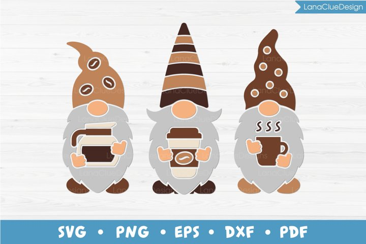 Gnomes with Coffee, Coffee Lovers SVG PNG DXF EPS PDF
