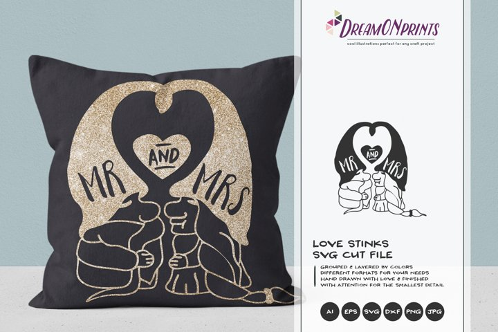 Mr and Mrs SVG   Gnomes SVG  