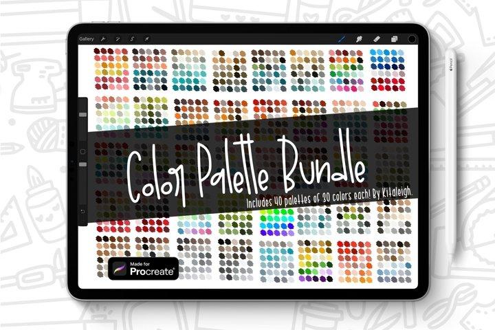 Procreate Color Palette Swatch Bundle, 1200 Colors!