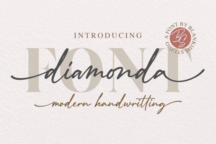 Diamonda Modern Handwritting Font