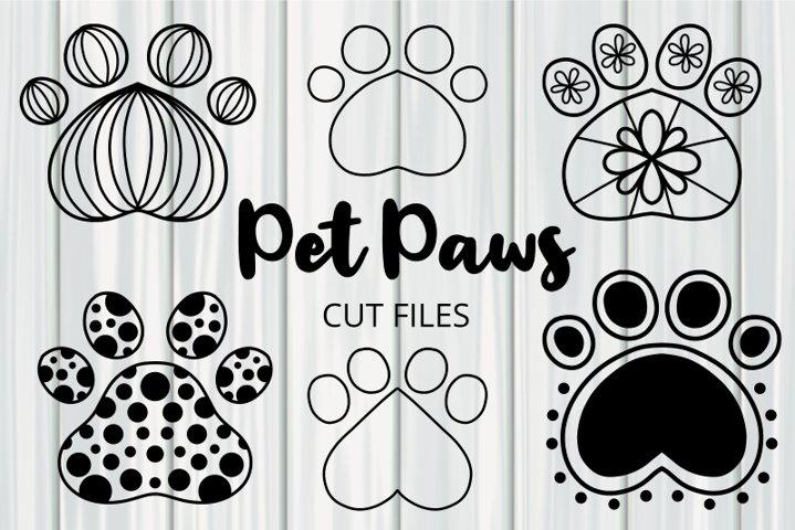 Pretty Pet Paw Print Cut File Clipart