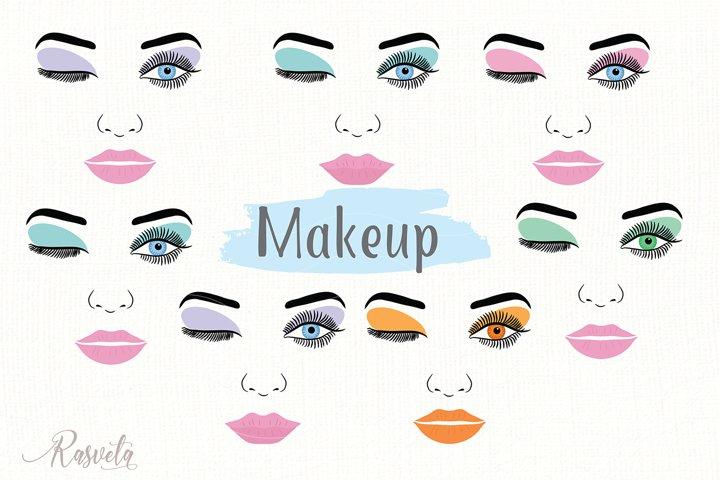 Make up svg Female Face Makeup Eyelashes Eyes Lips /3