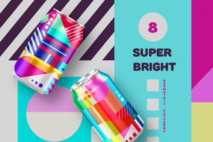SUPER BRIGHT geometric patterns