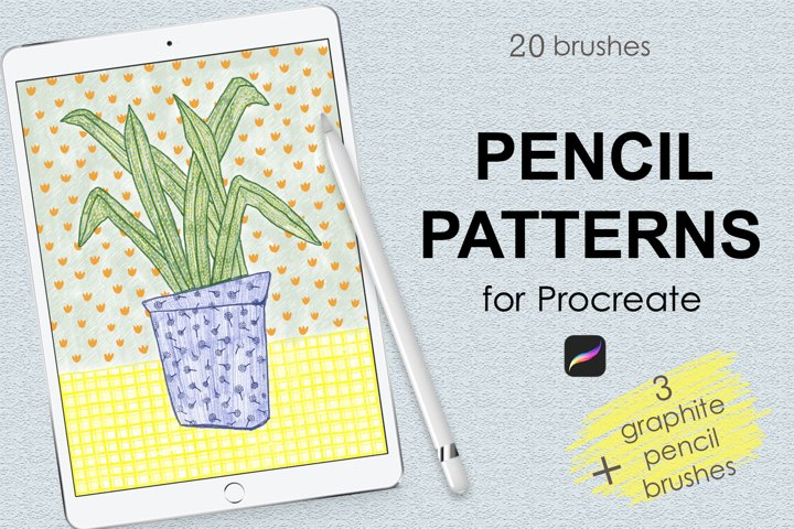 Pencil pattern brushes for Procreate