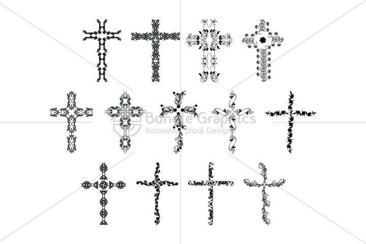 True Cross - Floral Design Elements