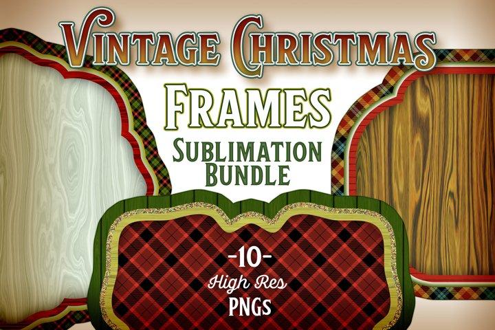 Vintage Christmas Sublimation Frames