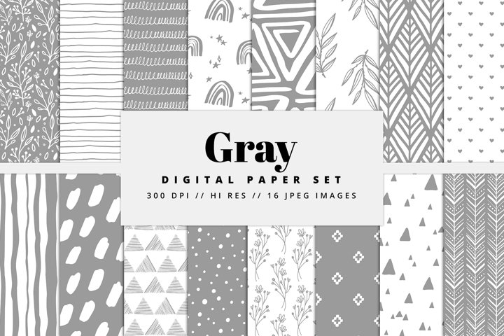Gray Digital Paper Set