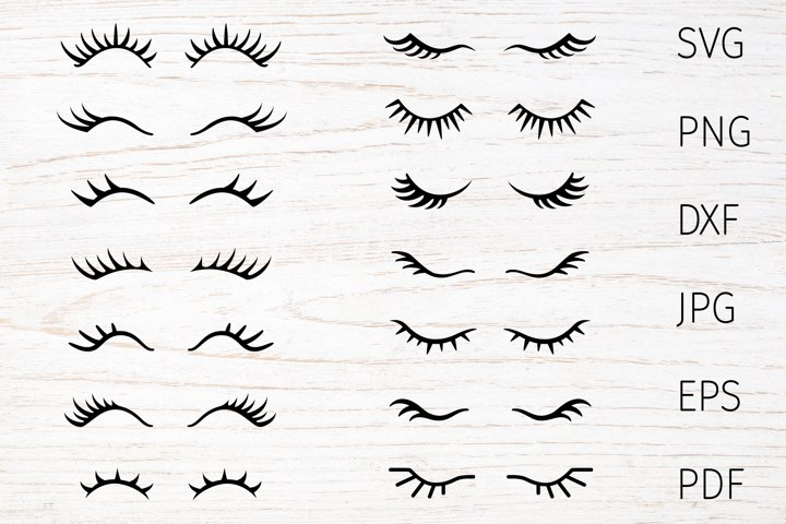 Eyelashes svg bundle, eye Lashes Svg, unicorn eyelashes svg