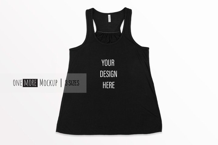 Women Tank Top Mockup | Bella Canvas 8800 Black