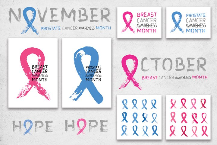 Cancer Awareness Month Ribbons   Posters   PNG SVG EPS JPG