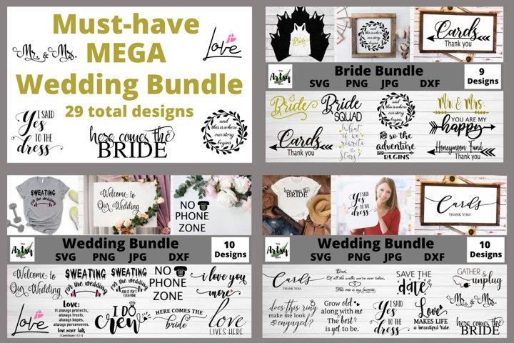 MEGA Wedding Bundle, Wedding svg Bundle, Bride svg bundle