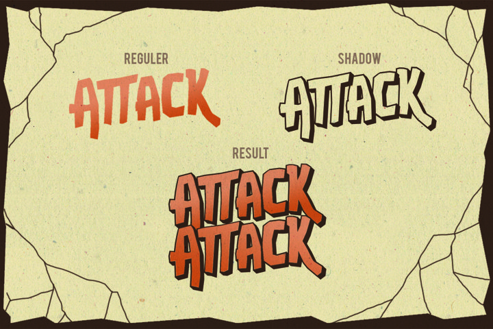 Attack Attack Typeface - Free Font of The Week Design3