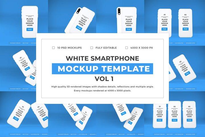 White Smartphone Mockup Template Bundle Vol 1