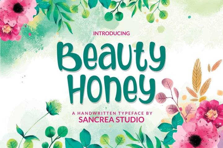 Beauty Honey - A FunHandwritten Font