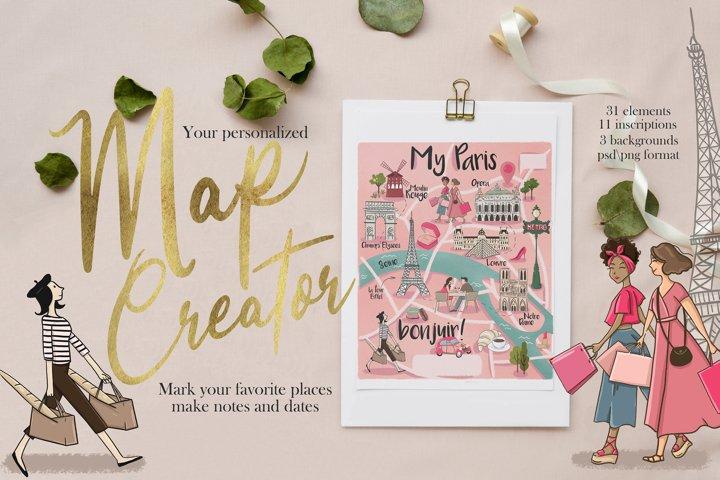Map Creator Paris