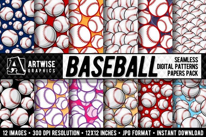 Baseball Digital Paper Graphics
