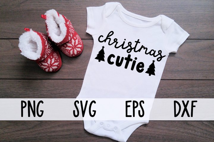Christmas Cutie SVG with Christmas Trees