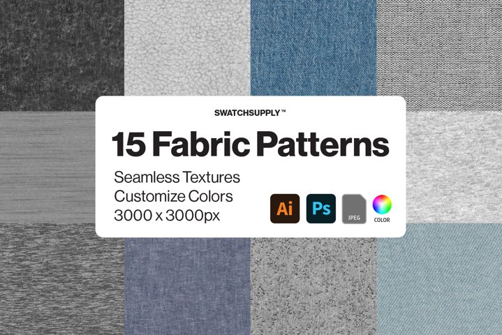 15 Fabric Texture Pattern Bundle
