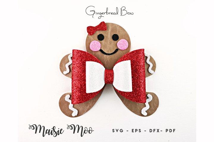 Gingerbread Bow Template, Christmas Bow SVG, Christmas SVG,