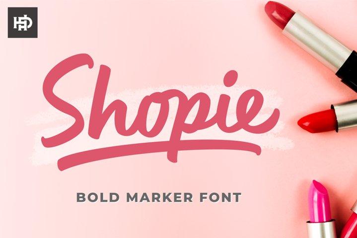 Shopie - Marker Font