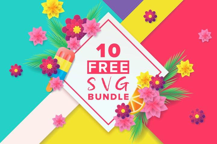 Ten Free SVG Bundle example