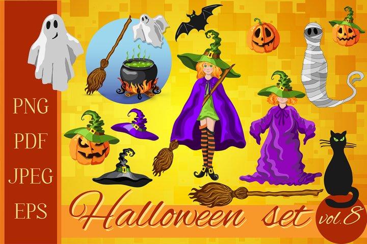 Set of Halloween characters