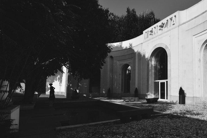 Venice, black and white photography, Pavillion of Venezia