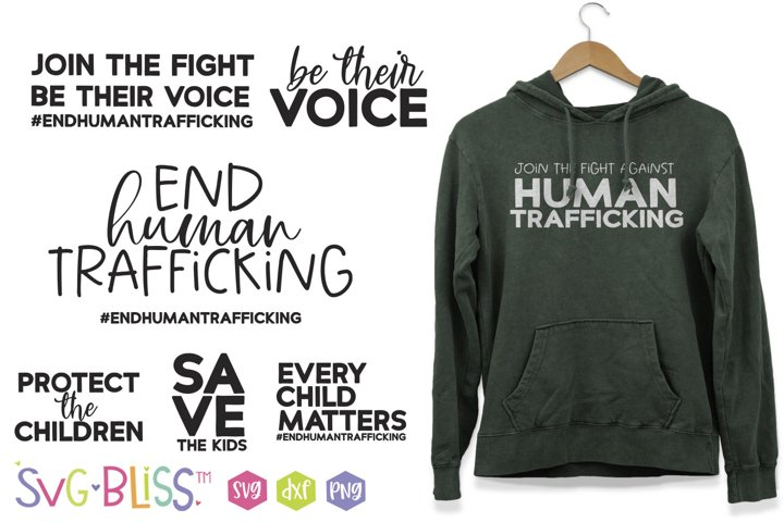 End Human Trafficking SVG Bundle