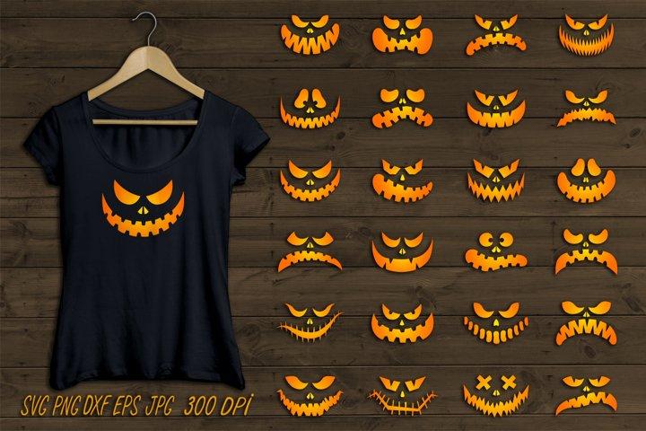 Pumpkin faces SVG,halloween faces SVG,sublimation t shirt