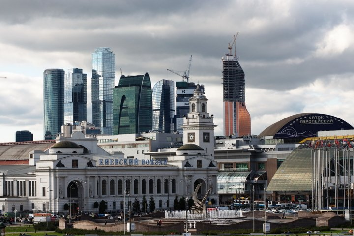 Moscow, Russia, center, Kievsky station, skyscrapers, city,
