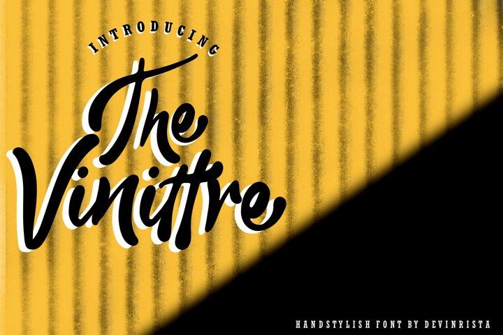 The Vinittre Handstylish Font