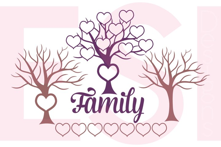 Family Tree Design with Extra Hearts