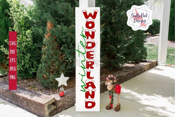 Winter Wonderland Vertical Sign Svg, Winter Wonderland svg