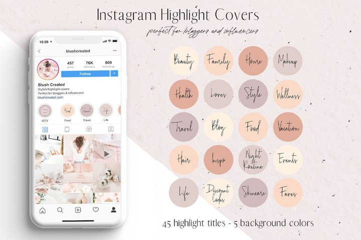 Instagram Highlight Cover Icons
