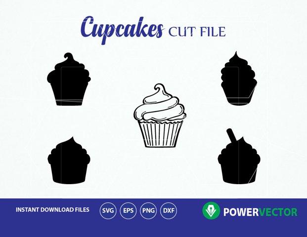 Cupcake SVG Cut Files. Cupcake Silhouette Svg. Cupcake Cut File