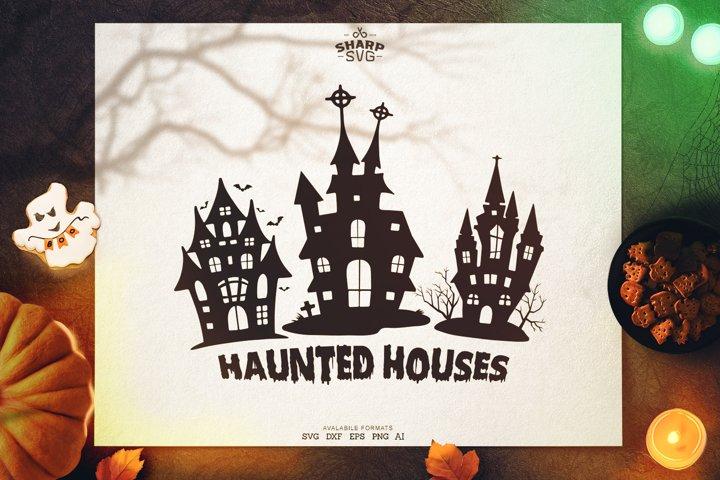 Halloween Haunted Houses SVG | Halloween SVG Files