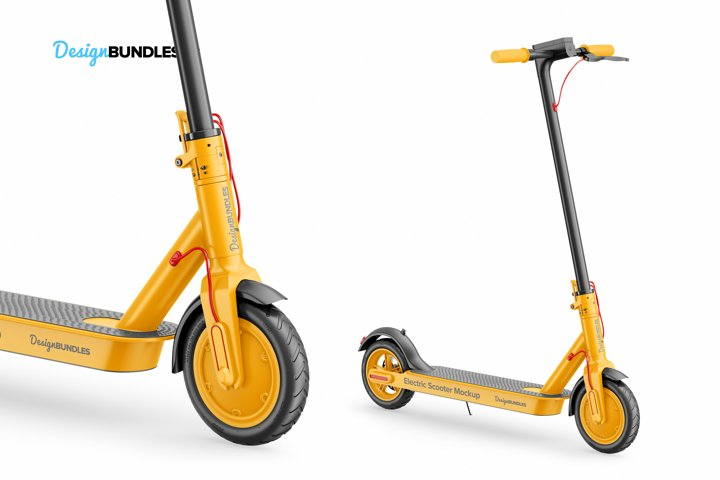 Electric Scooter Mockup example 6